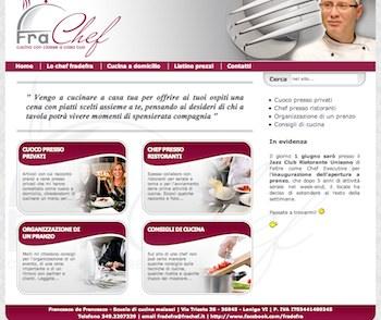 La home del sito del Cuoco a Domicilio Francesco de Francesco, frachef.it